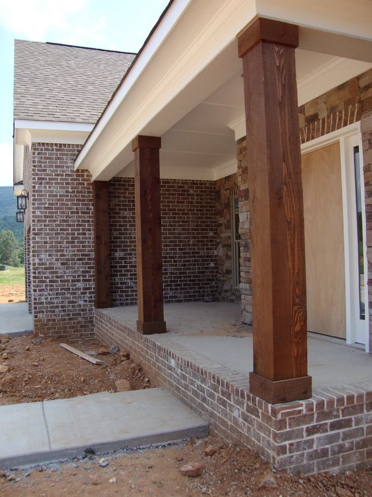 Wooden porch posts and columns the rickety brick house for Wrap around porch columns