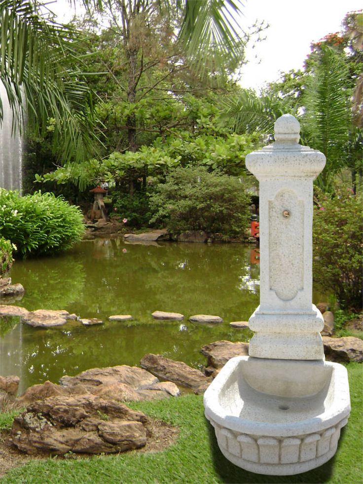 11 best images about fontaine de jardin pierre et fonte on for Fontaine jardin design