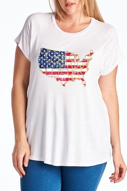 American Flag USA States T-Shirt