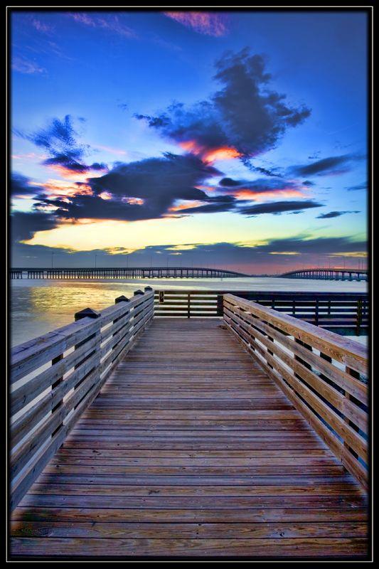 Charlotte Dock over the Peace river, Punta Gorda, FL  Copyright: Gregory Wagner