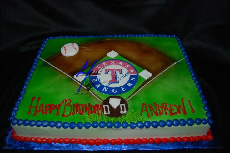 cakes 4 all in Dallas: Edible pictures for cakes Texas Rangers Base ball Cakes 4 all Dallas