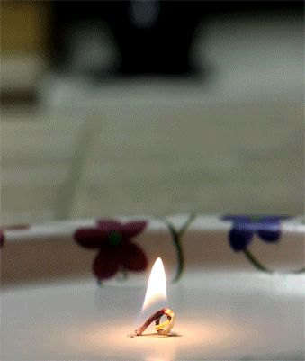 GIF of candle burning backwards. This is strangely fascinating...