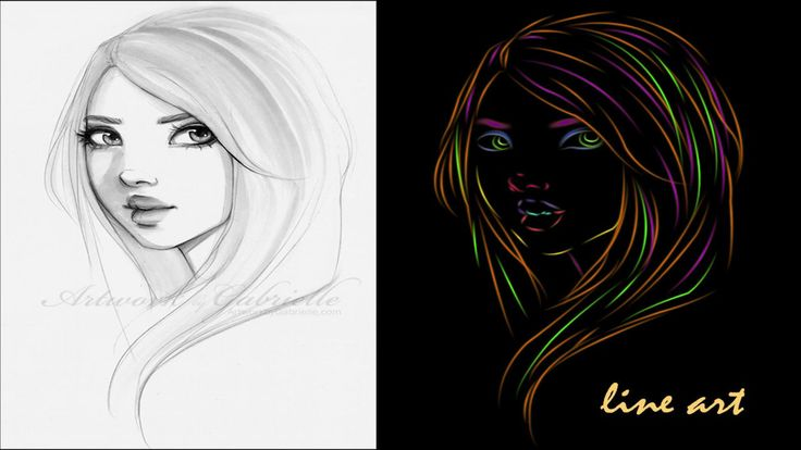 Photoshop tutorial : line art