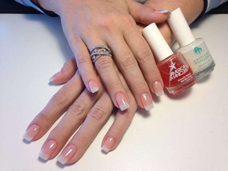 Lisa's American Manicure...I love doing her nails!  @maryalslopez - this is an American manicure! Lol