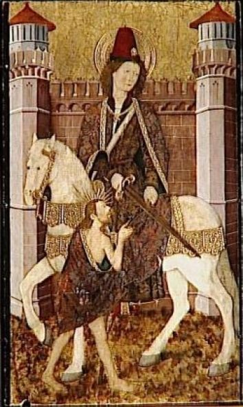 Feast of St. Martin of Tours; Christian Religious Observance; November 11; Legionary soldier in France, turned conscientious objector and Christian; formed the first monastic community in Gaul; later was bishop of Tours. One of Gaul's great saints and a pioneer of monasticism in the West. His shrine became a major pilgrimage center. A patron saint of France and of beggars, vine growers, tavern keepers, and drunkards.