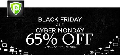 Nov 28, 2014 – More on Discount for Black Friday/Cyber Monday  1.PureVPN – Save Up to 65% OFF! Black Friday Offers  (28-29 November 2014) & PureVPN Cyber Monday Offers (30 – 01 December 2014)    2.ibVPN – From Nov 28 until Dec 01,ibVPN will be offering 30% discount to all packages, all billing cycles. The special discount code is BFCM14 and it is valid from Nov 28, 2014 0:00 AM GMT until Dec 01, 2014 12:00 PM GMT  http://www.bestvpnserver.com/vpn-coupon/
