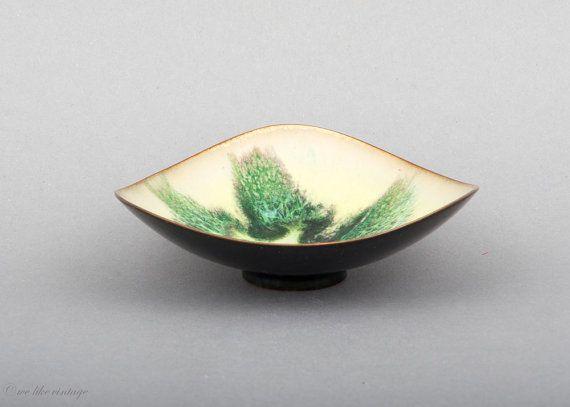 Vintage Bowl Enamel Copper Mid Century Modern 60s by welikevintage, €28.00