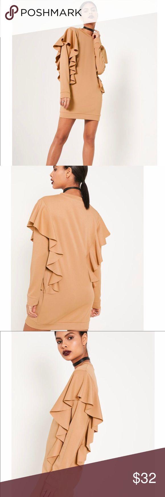 Selling this Frilled Sweater Dress on Poshmark! My username is: tijuanda. #shopmycloset #poshmark #fashion #shopping #style #forsale #Missguided #Dresses & Skirts