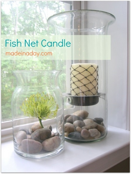 Fish net candle.