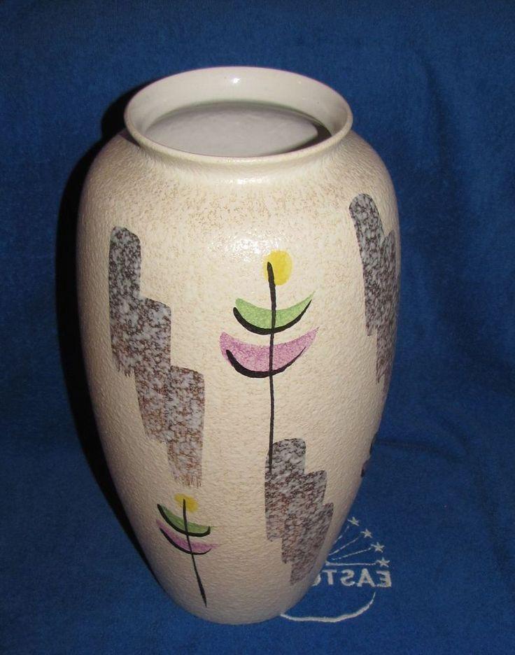 Vintage West Germany BIG Large Floor Vase Bodenvase Decor Europe pottery Flower #WestGermany #WGermany62140