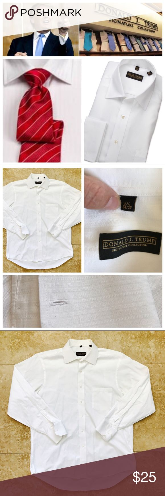 Donald Trump signature shirt bundle Donald Trump dress shirt bundle. Donald Trump Signature Collection Dress Shirts Our Donald Trump signature dress shirts represent the entrepreneur on the go and always in the mix of business at hand. The quality are representative of power and status and will fit like a glove with suits of the same stature. Whether you are a Shareholder, CEO, Manager, Corporate Climber or on your first job interview after college, the Donald Trump signature dress shirts…
