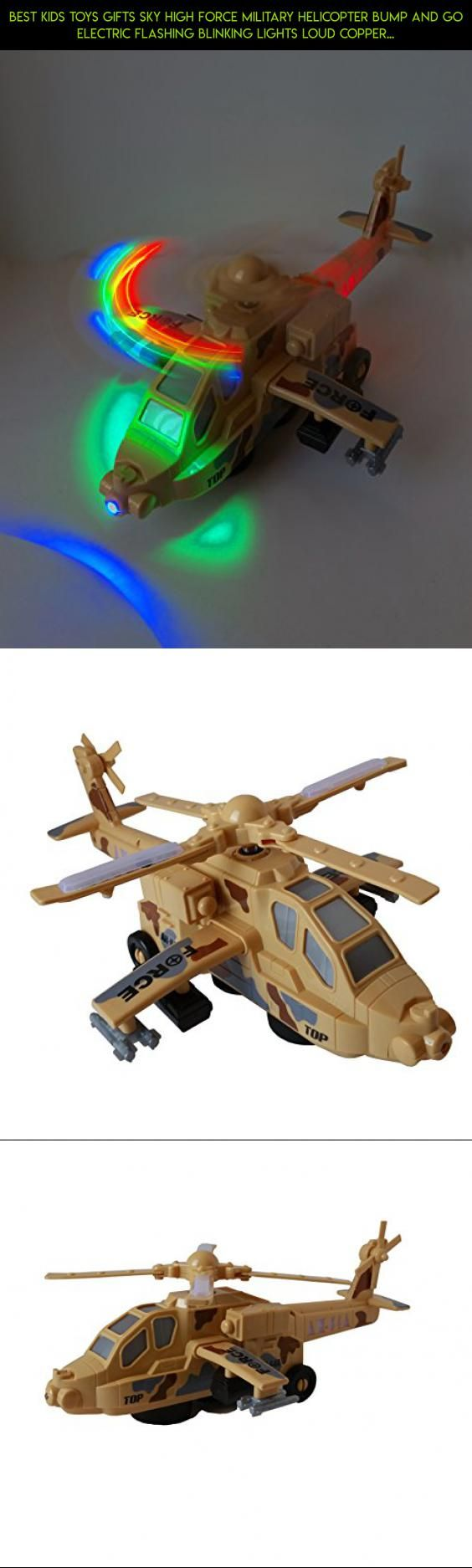 """Best Kids Toys Gifts Sky High Force Military Helicopter Bump and Go Electric Flashing Blinking Lights Loud Copper Sound (12"""" X 11 X 7.5"""") Stocking Stuffers #air #drone #racing #camera #parts #shopping #technology #hogs #fpv #osprey #plans #gadgets #products #tech #kit"""