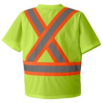 Yellow/Green 5997 Hi-Viz Traffic T-Shirt, Back