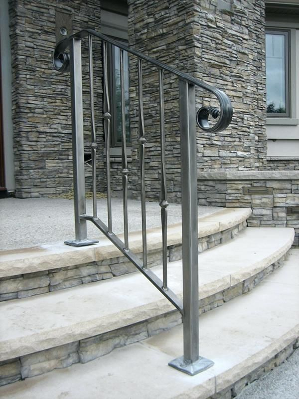 Exterior Wrought Iron Stair Railing Kits Porch Image Of