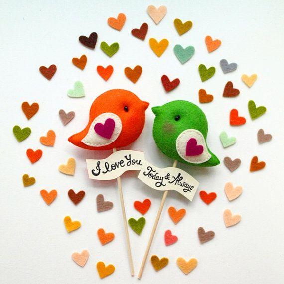 Personalized LOVE BIRDS Pair Custom Color Unique von GiftsDefine