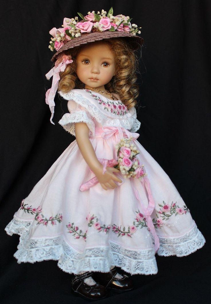 "Embroidered Heirloom Ensemble for Effner 13"" Little Darling Dolls | eBay"