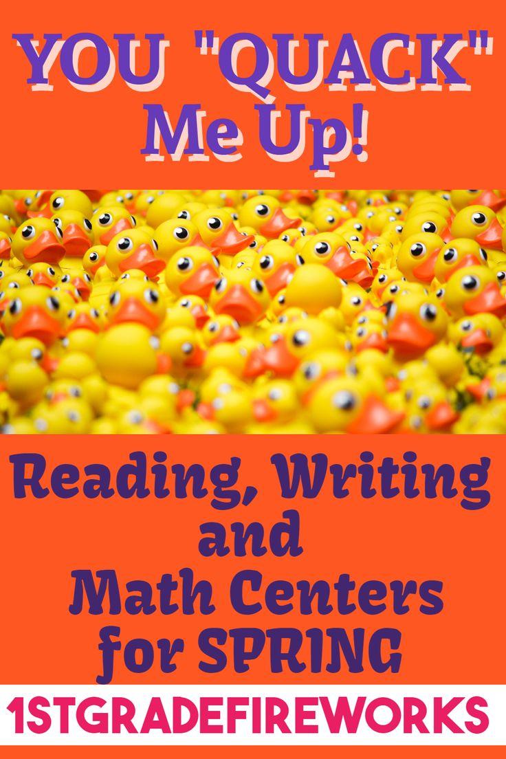 You Quack me UP! ELA & Math Centers Math centers, Math