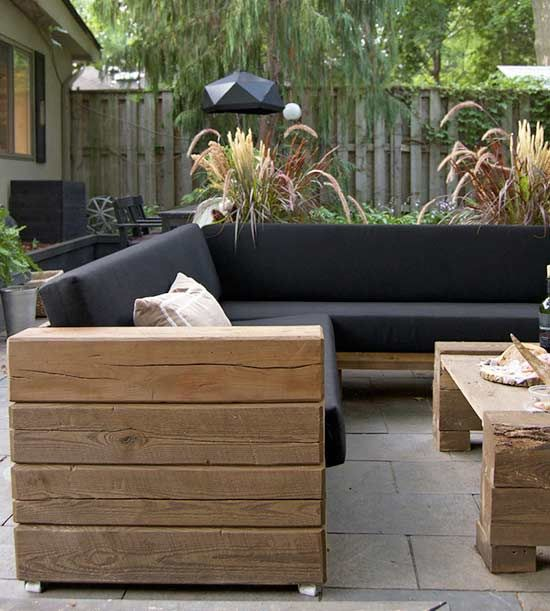It takes a lot of ambition to re-create an entire outdoor collection, but that's exactly what blogger Karen of The Art of Doing Stuff did. She decided she'd rather spend her time building Scandinavian-style patio furniture than spend $20,000, and the result is a rustic-modern sofa, chair, and coffee table perfect for backyard bashes. One standout hack: Karen put the heavy wooden furniture on appliance casters so she could easily move the pieces around.