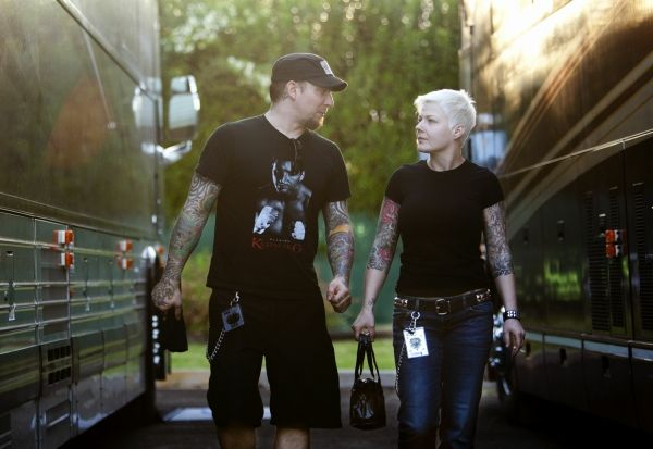 MICHAEL POULSEN and LINA POULSEN - his wife is gorgeous ...