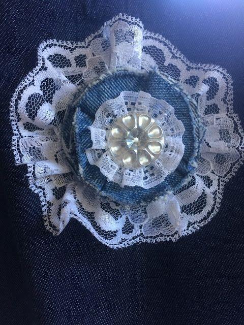 Denim & Lace Flower