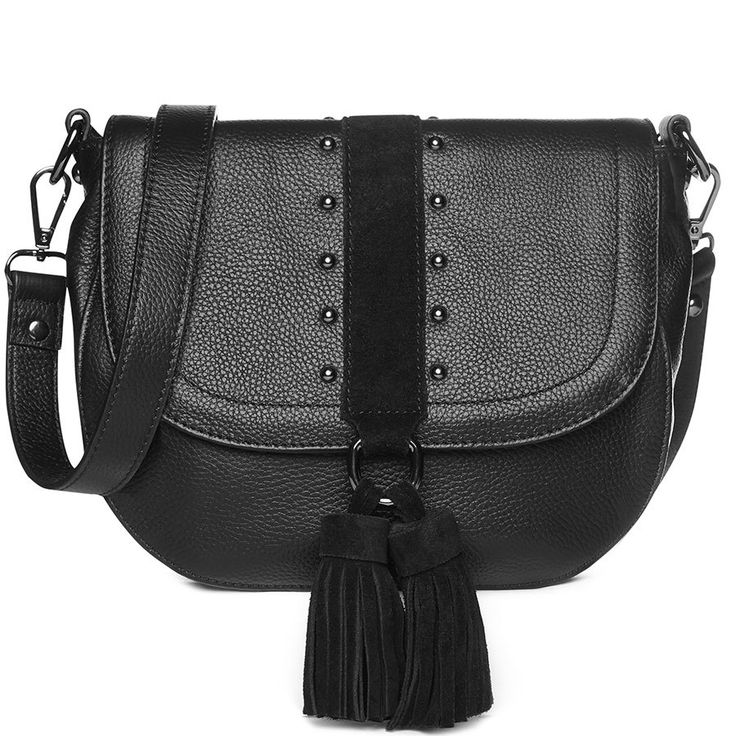 Lana Leather Handbag in Black