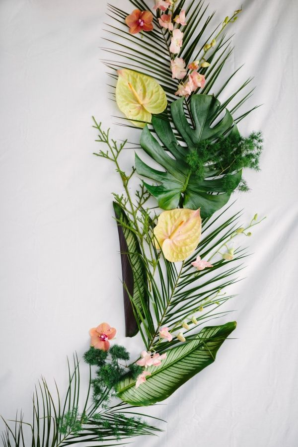 Pretty tropical backdrop: http://www.stylemepretty.com/living/2016/03/17/the-one-party-detail-we-cant-stop-talking-about/ | Photography: Shane and Lauren - http://shaneandlauren.com/
