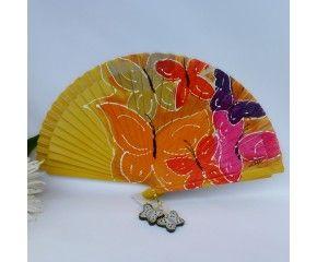 Abanico de diseño pintado a mano