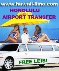 Alpha Limousine Hawaii is Hawaii Airport Limousine Transfer specialist, FREE Fresh flowers Leis included! Hawaii limosine premier provider of affordable and professional Honolulu airport limousine service, tours and transportation.
