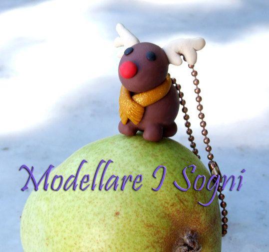Xmas Christmas Reindeer Keychain Cute Rudolf Red Nose  https://www.etsy.com/listing/168515954/xmas-christmas-reindeer-keychain-cute