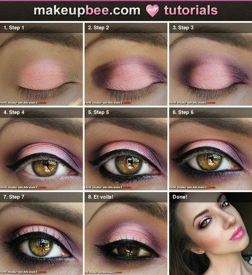 make up pink tutorial