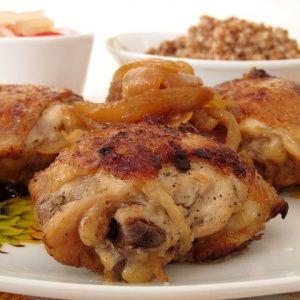 Куриные бедра жареные со…