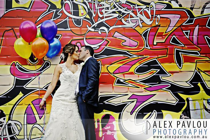 Melbourne wedding photography at Bram Leigh Receptions-graffiti- fun wedding. Photography: Con Tsioukis of Alex Pavlou Photography  www.alexpavlou.com