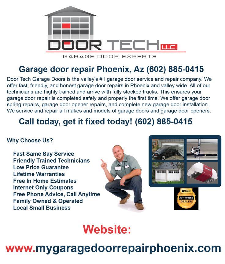unable to fix a garage door opener problem and need assistance give door tech