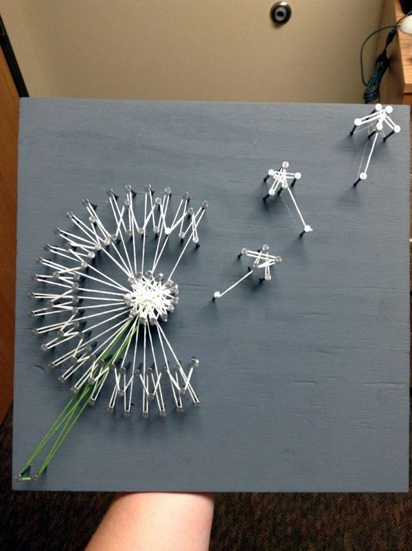 15 Ideas To Make String Arts Dandelion Art There Are Many Artists Use As Examples For This Project But Encourage The Students Start With
