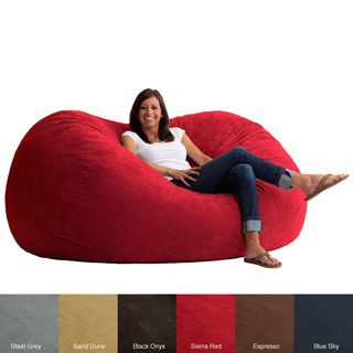 FufSack Memory Foam Microfiber 6-foot XL Bean Bag Chair | Overstock™ Shopping - Big Discounts on Bean & Lounge Bags