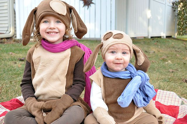 Puppies Halloween | this heart of mine - I like the idea of a hat and a smock type costume for Riley.