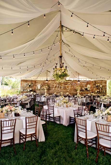 Diy tent for wedding