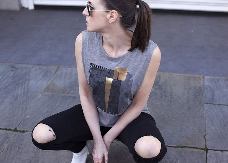 Rivington Grey Rock Chick Top | Urban Gilt Lookbook | Free Wordwide Delivery