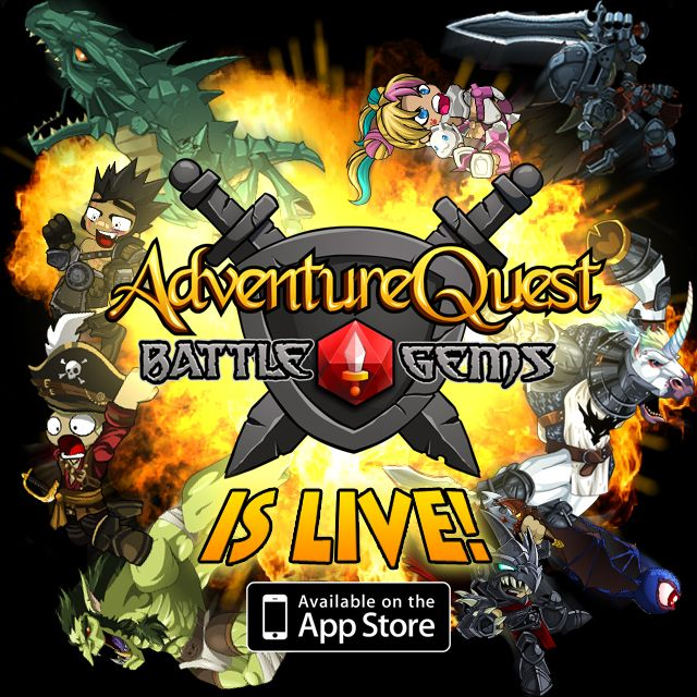 Battle Gems, the crazy puzzle RPG game by Artix Entertainment, has just launched on the App Store! Download it for free at https://itunes.apple.com/us/app/battle-gems-adventurequest/id694721552?mt=8 #BattleGems