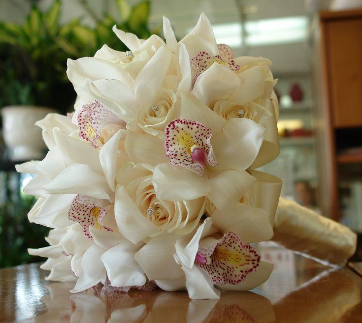 Bridal Bouquet (ivory cymbidium orchids)