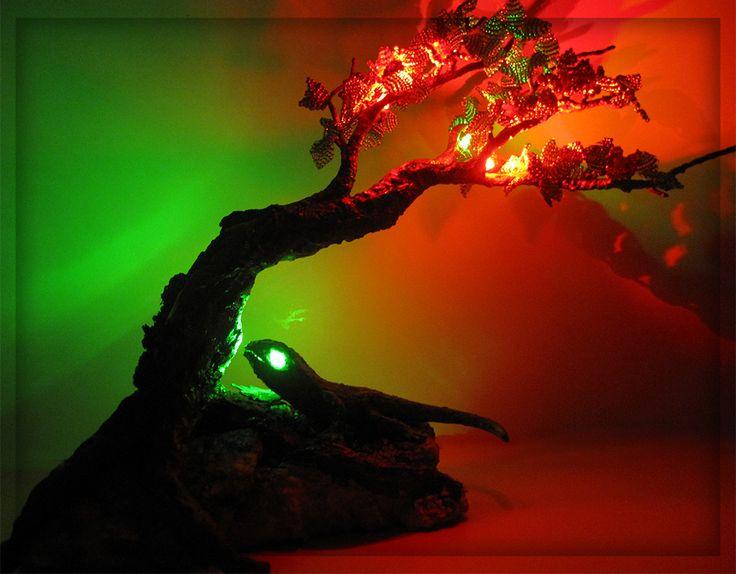 """Деревья из бисера. Светильник """"Мгновение весны"""""""