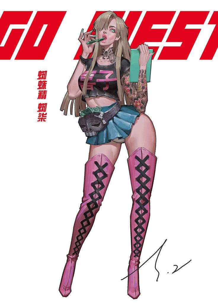 ArtStation - GO WEST 蜘蛛精, xtasy zhu