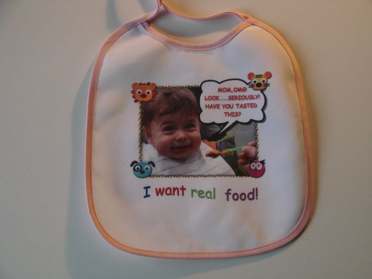Design fun bibs for your baby