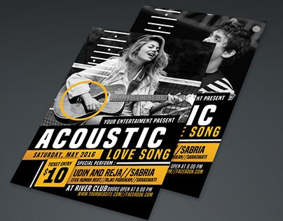"""Check out new work on my @Behance portfolio: """"Acoustic Event Flyer Poster"""" http://be.net/gallery/40585601/Acoustic-Event-Flyer-Poster"""