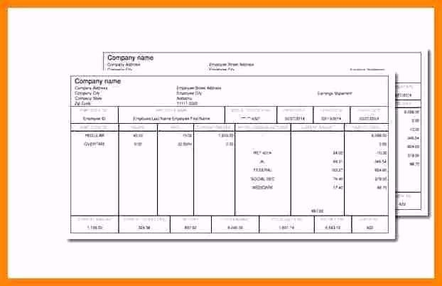 1099 Employee In 2020 Payroll Template Statement Template