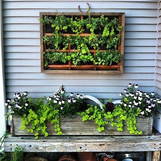 cute garden boxes casasnap source instagram user msmirandajones - Apartment Patio Garden Ideas
