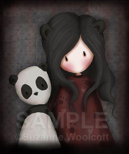 """Panda Girl"" - Gorjuss Print Art"