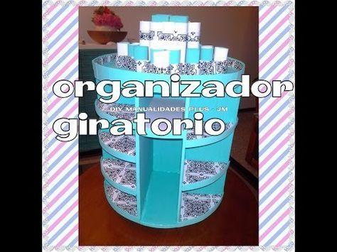 Manualidad : organizador giratorio para maquillaje ♥DIY rotating makeup organizer - YouTube #makeuporganizerrotating
