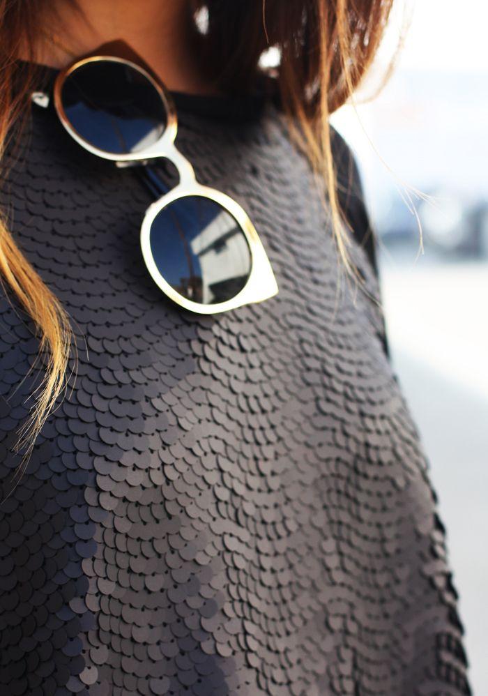 Leather ruffles.