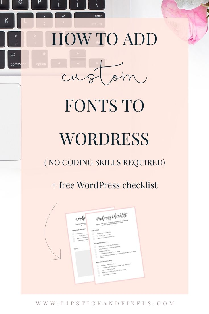 Each WordPress theme comes with different layout and design options, but more often you have a pre-defined font. There's an easy way to change it. Read more...